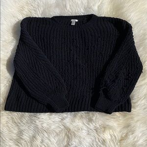 Oversized Chunky Cropped Sweater